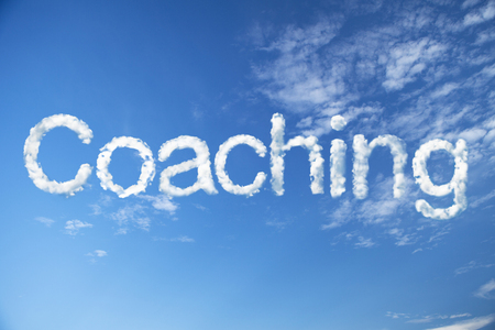 mentoring: Coaching cloud word Stock Photo