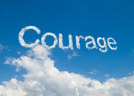 courage: courage cloud word