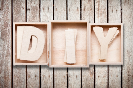 DIY wood font style photo