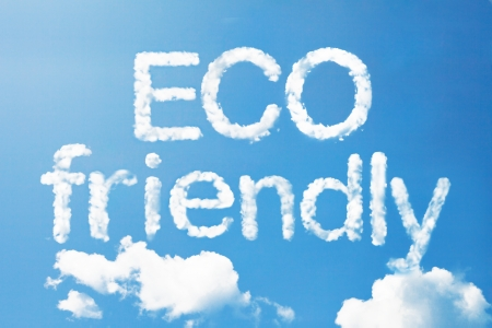ozone friendly: Eco friendly a cloud massage on sky