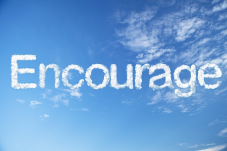 encourage cloud word photo