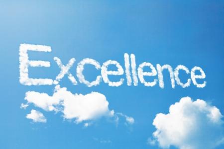 excellence a cloud  massage on sky Standard-Bild