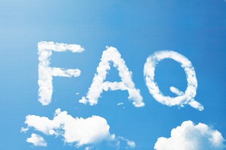 FAQ cloud word photo