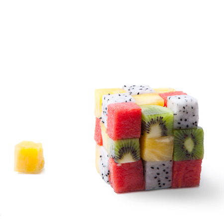 cubic: Cubic fruit Stock Photo
