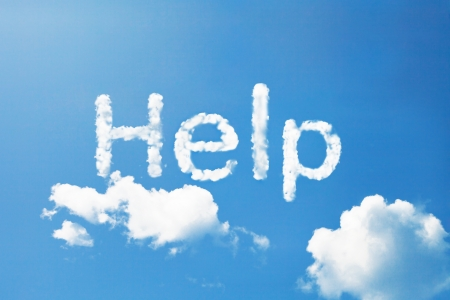 rescue signs: help cloud word