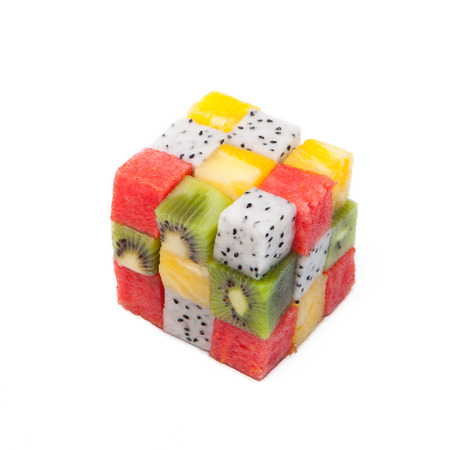 cubic: Isolated cubic fruit