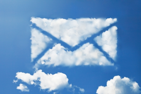 electronic mail: mail cloud shape