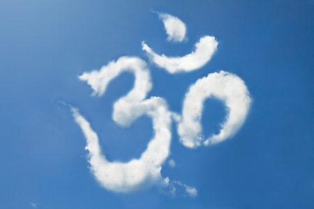 Om sign cloud shape form Stock Photo