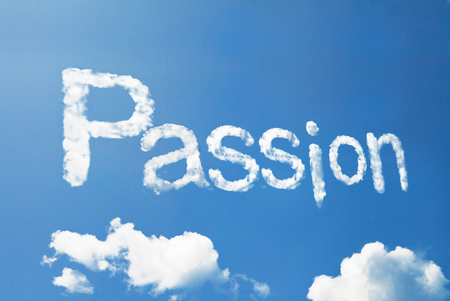 deliverance: passion cloud word Stock Photo