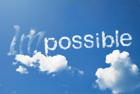 不可能を可能に吹く風 写真素材