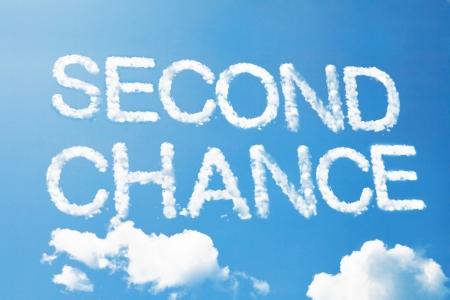 Second chance a cloud  massage on sky Banque d'images