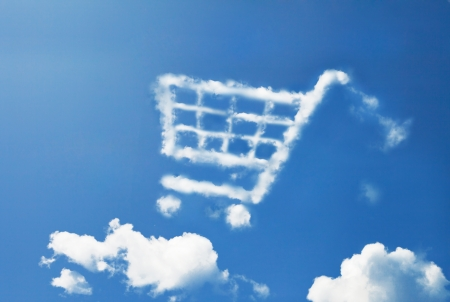 shopping cart: shopping cart cloud shape
