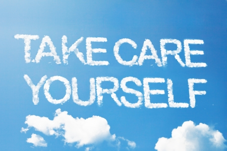 yourself: Take care yourself a cloud  massage on sky