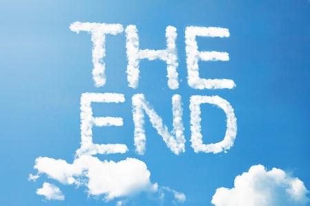 The end a cloud  massage on sky