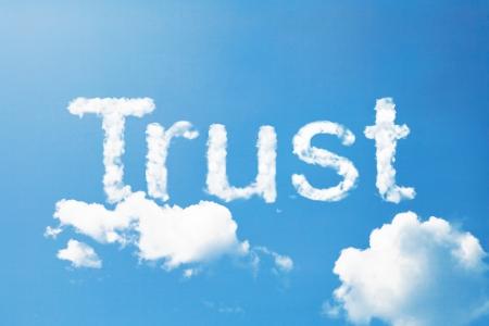 Trust a cloud  massage on sky