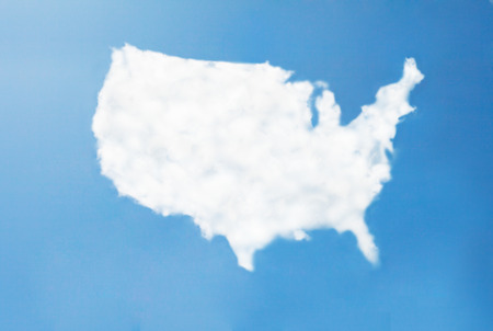 usa cloud map photo