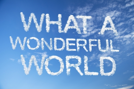 What a Wonderful World cloud word Stock fotó