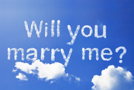 marry: will you marry me cloud word