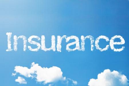 insurance cloud word Foto de archivo