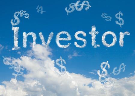investor cloud word
