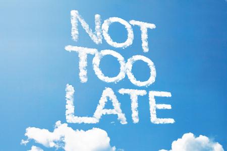 Niet te laat een wolk massage op de hemel