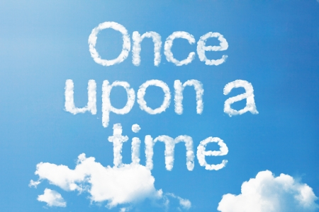 once: once upon a time a cloud massage in the sky