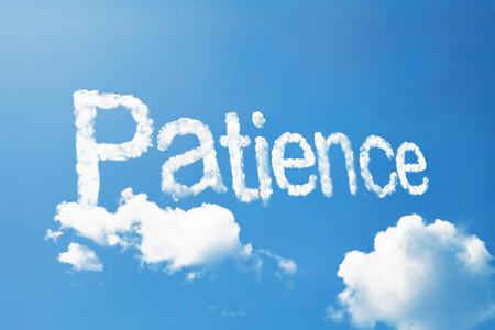patience cloud ward Standard-Bild