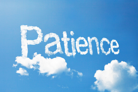 patience: patience cloud ward Stock Photo