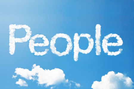 citizenry: People a cloud massage on sky