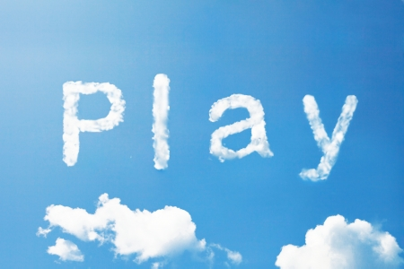wariety: Play a cloud  word on sky