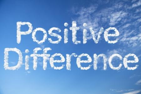 actitud positiva: Palabra diferencia positiva