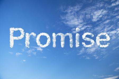 promise cloud word