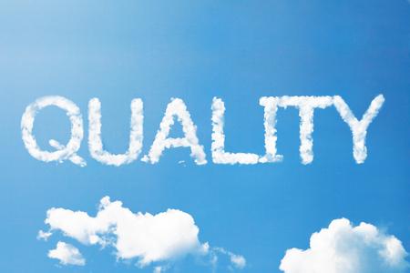 Quality a cloud massage on sky