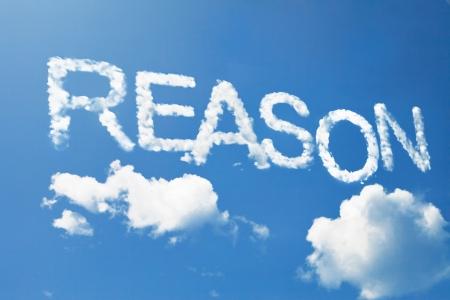reasoning: Reason cloud word