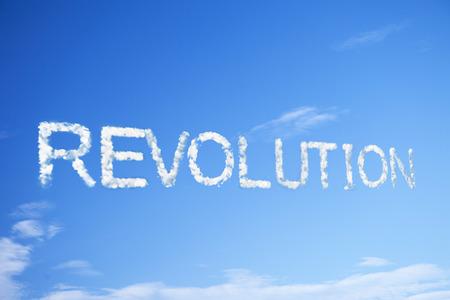 revolution cloud word Standard-Bild