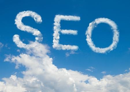 ranking: SEO cloud word Stock Photo