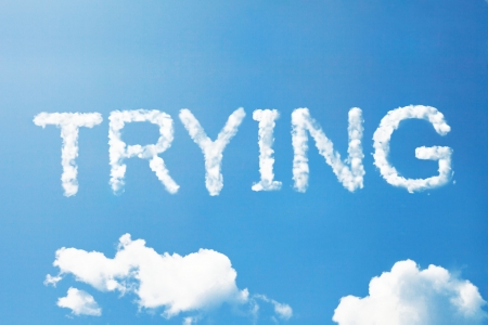 trying: Core value a cloud  massage on sky