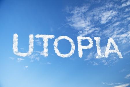 utopia cloud word Standard-Bild