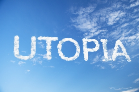 utopia cloud word Banque d'images