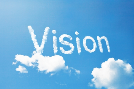 vision business: Vision a cloud  massage on sky