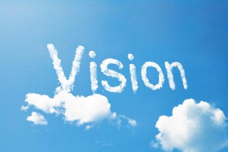 Vision a cloud  massage on sky