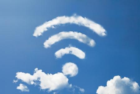 wifi wolkenvorm Stockfoto