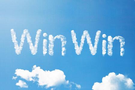 win win cloud word Standard-Bild
