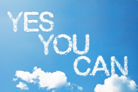yes you can a cloud massage in the sky Standard-Bild