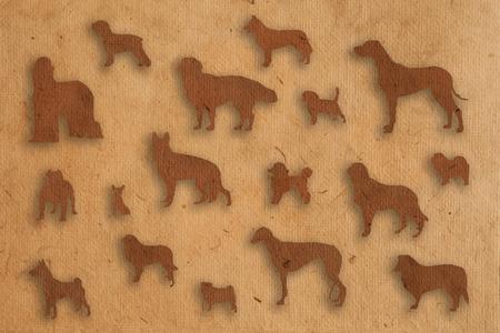borzoi:  isolate dog paper texture style