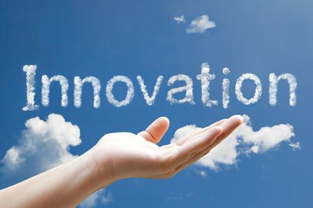 innovation word cloud shape form photo