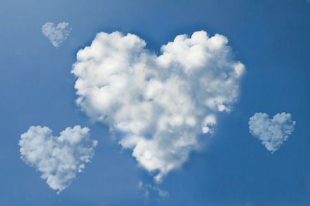 cloud shape: heart shape cloud on sky Stock Photo