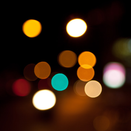 Night bokeh light background photo