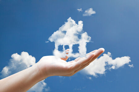 house cloud in hand