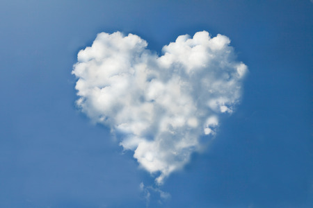 Cloud heart form photo